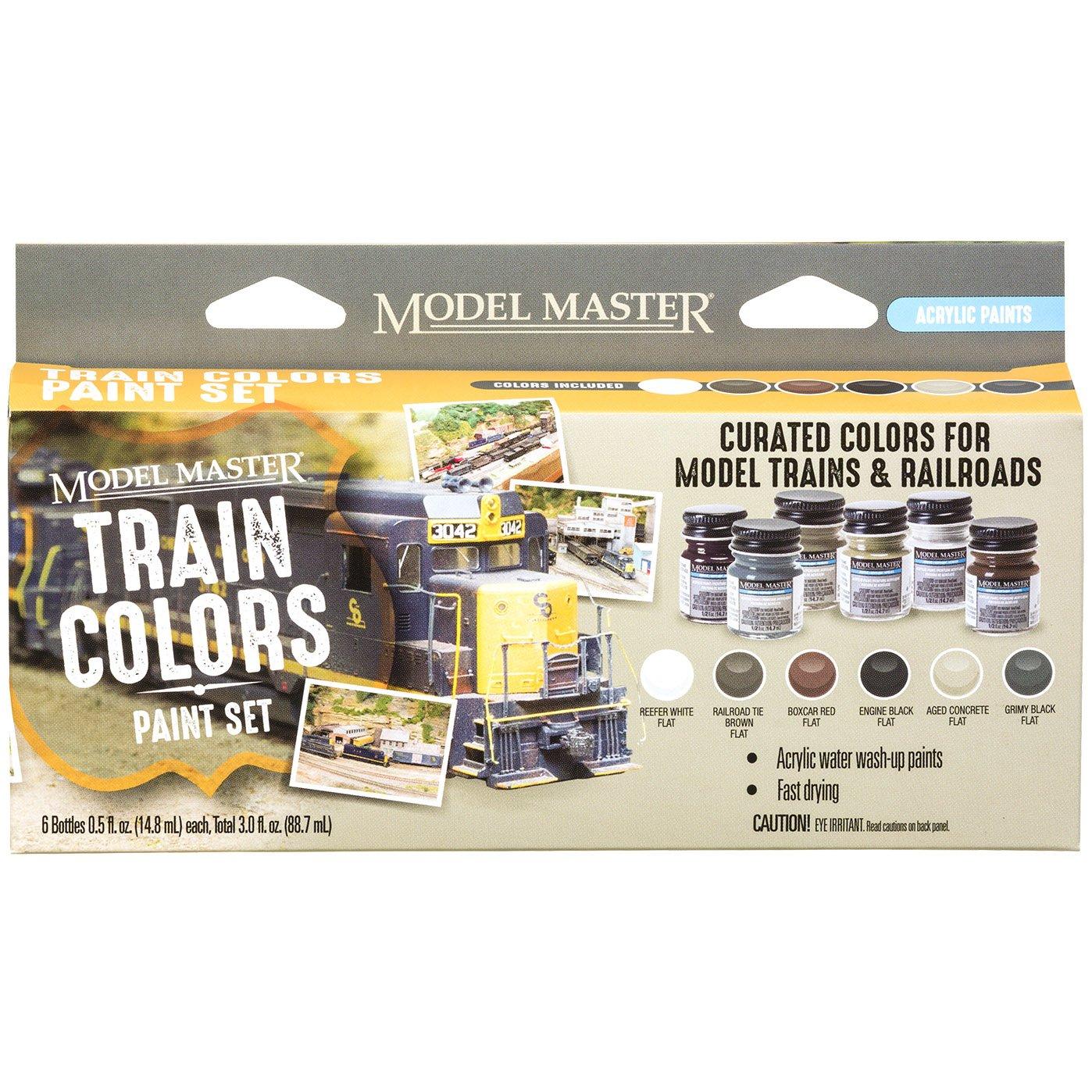 Train Colors Paint Set, Acrylic (6)