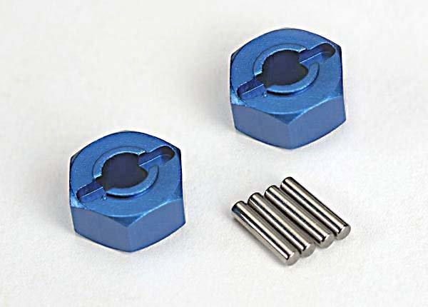 12mm Blue Alum Wheel Hex