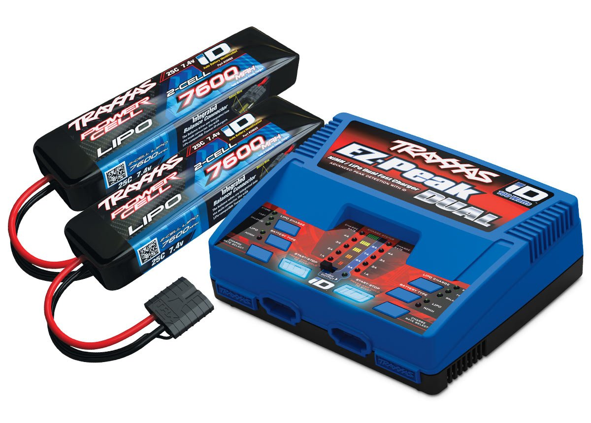4S Completer pack 2x 7600mah 7.4v 4amp Charger