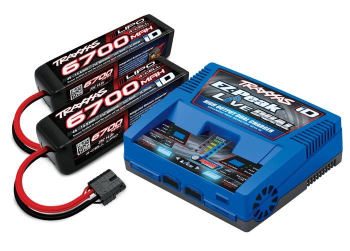 X-Maxx 8S Completer Pack 6700mAh 24amp charger