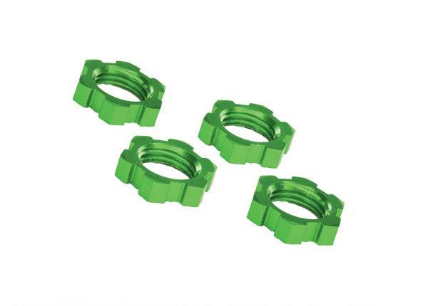 17mm Wheel nuts, splined (green)(4)