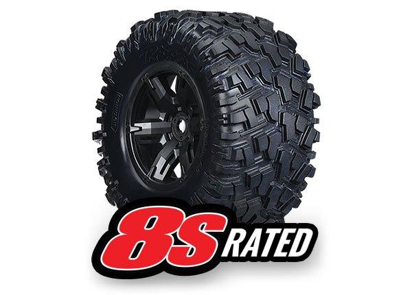 X-Maxx Tires & wheels, assembled