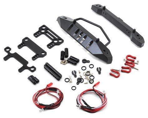 Alum SCX10 F/R Bumper Set w/Heavy Duty Shackle & LEDs