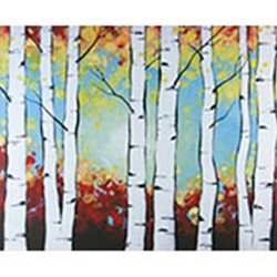 Birch Trees Adult Paint