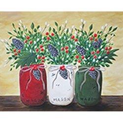Christmas Mason Jars Adult Paint