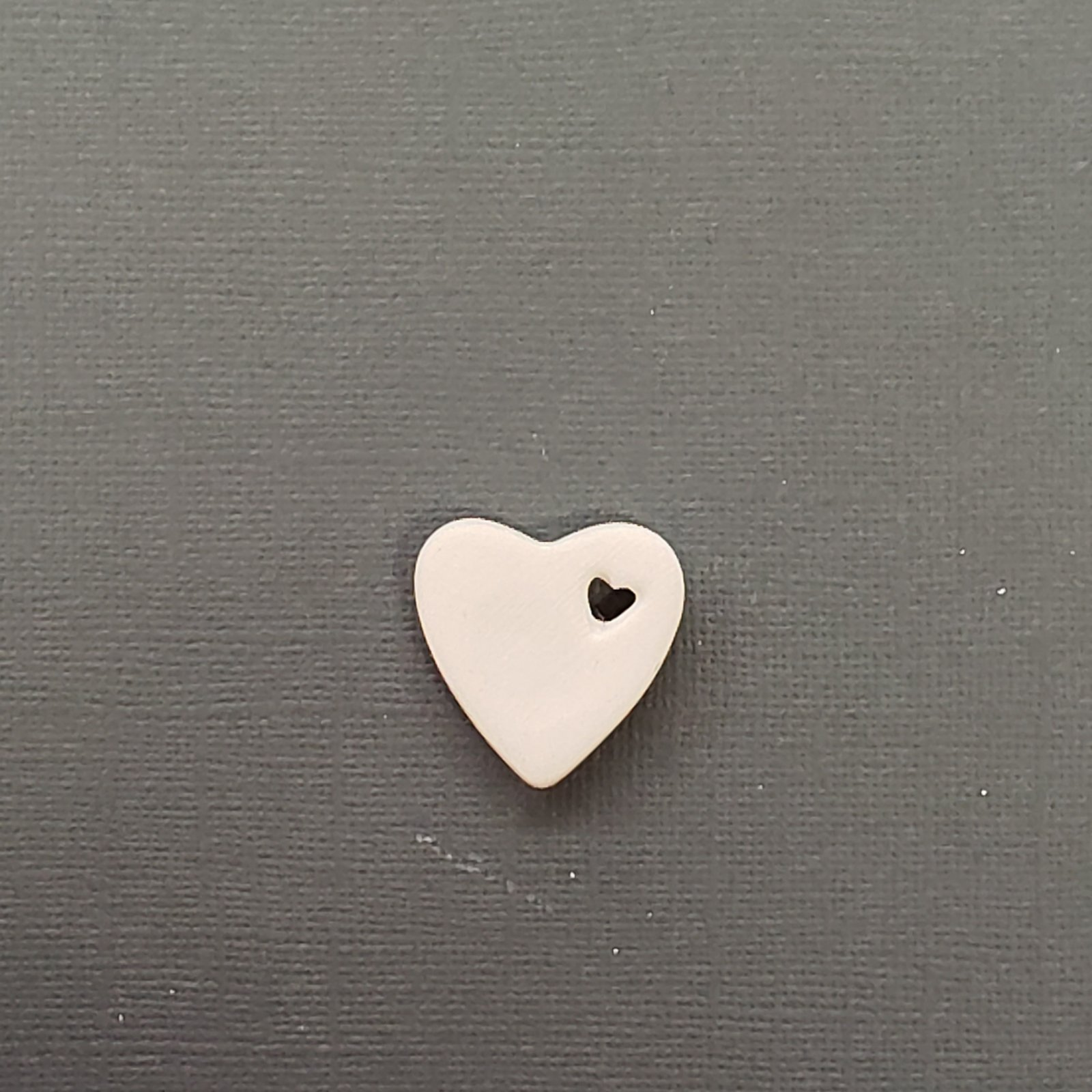 Double Heart Bisque Pendant