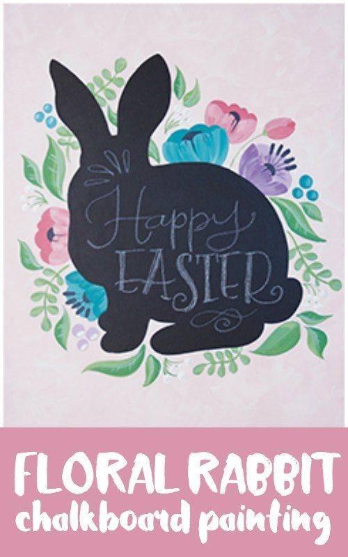 Floral Rabbit Adult Paint