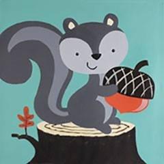 Grey Squirrel KidzPaint