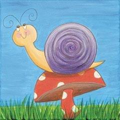 Spring Snail KidzPaint