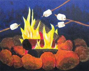Toasty Campfire Adult Paint