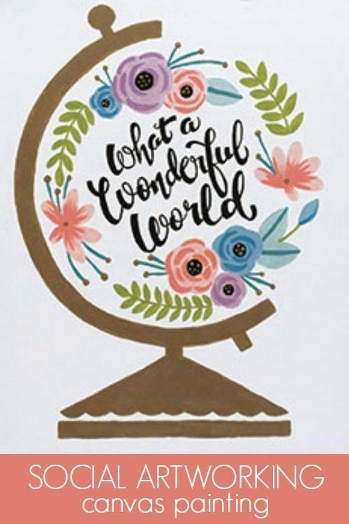 Wonderful World Adult Paint
