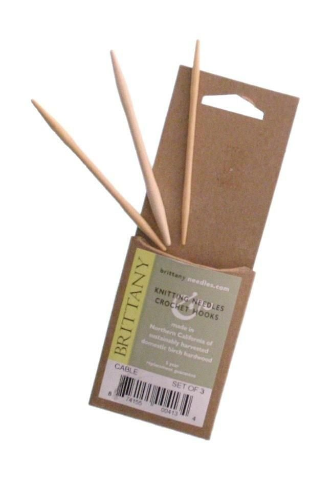 Brittany Wooden Cable Needles Set of 3