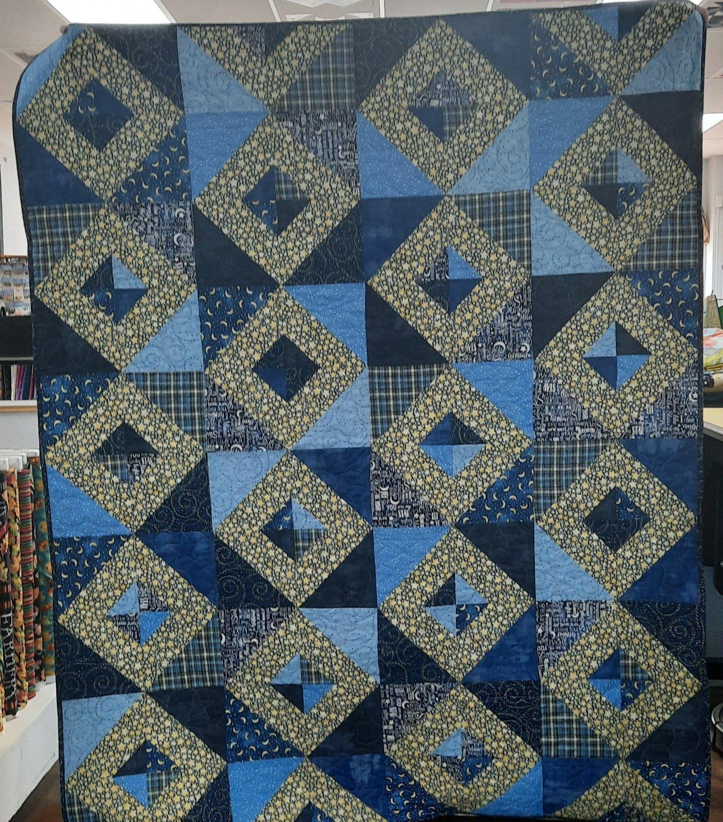 Swirly Stars Diamond Quilt 60x75
