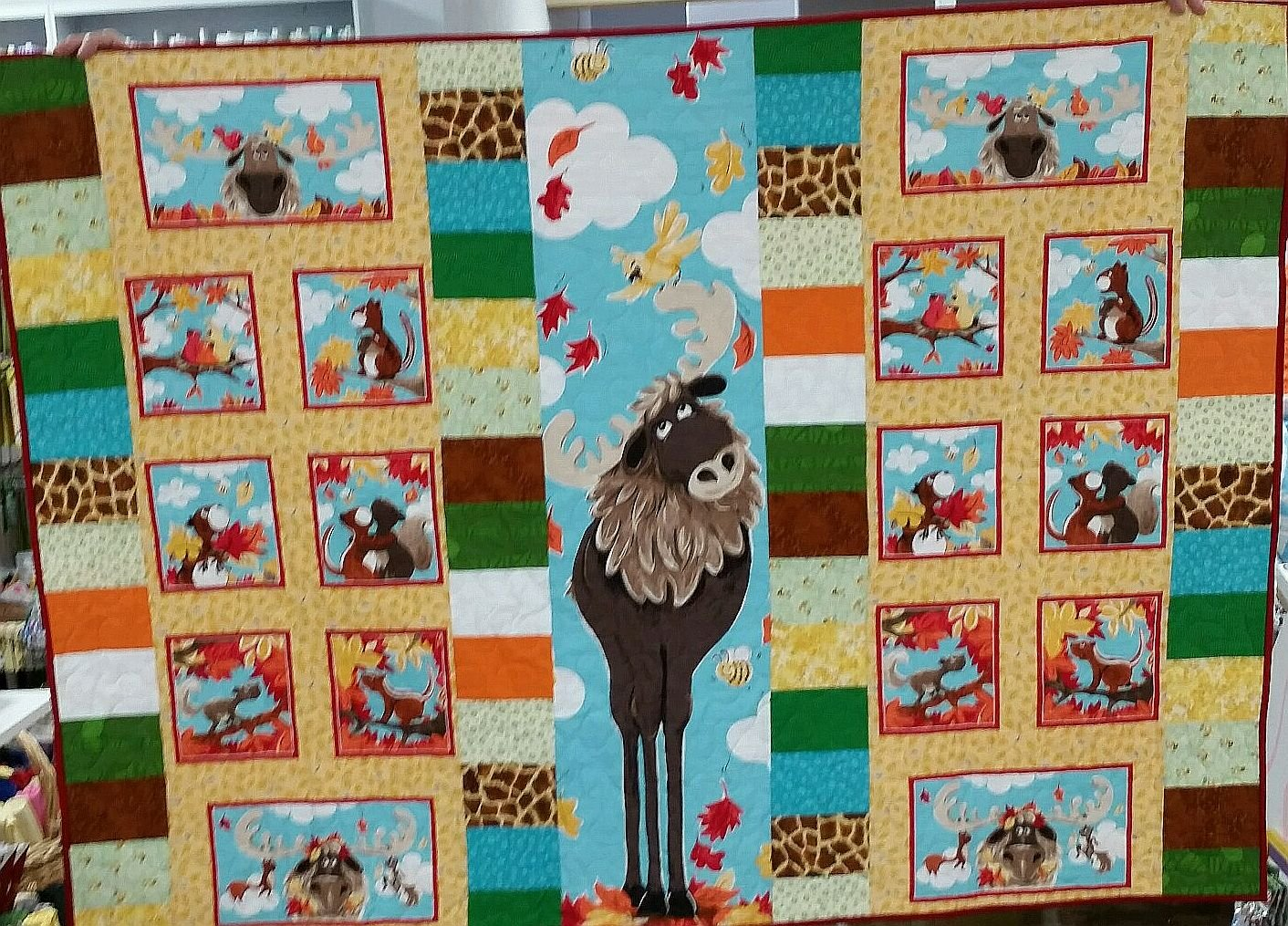 Bruce the Moose Quilt