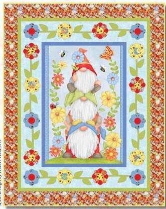 Gnome Garden Quilt 47 x 58