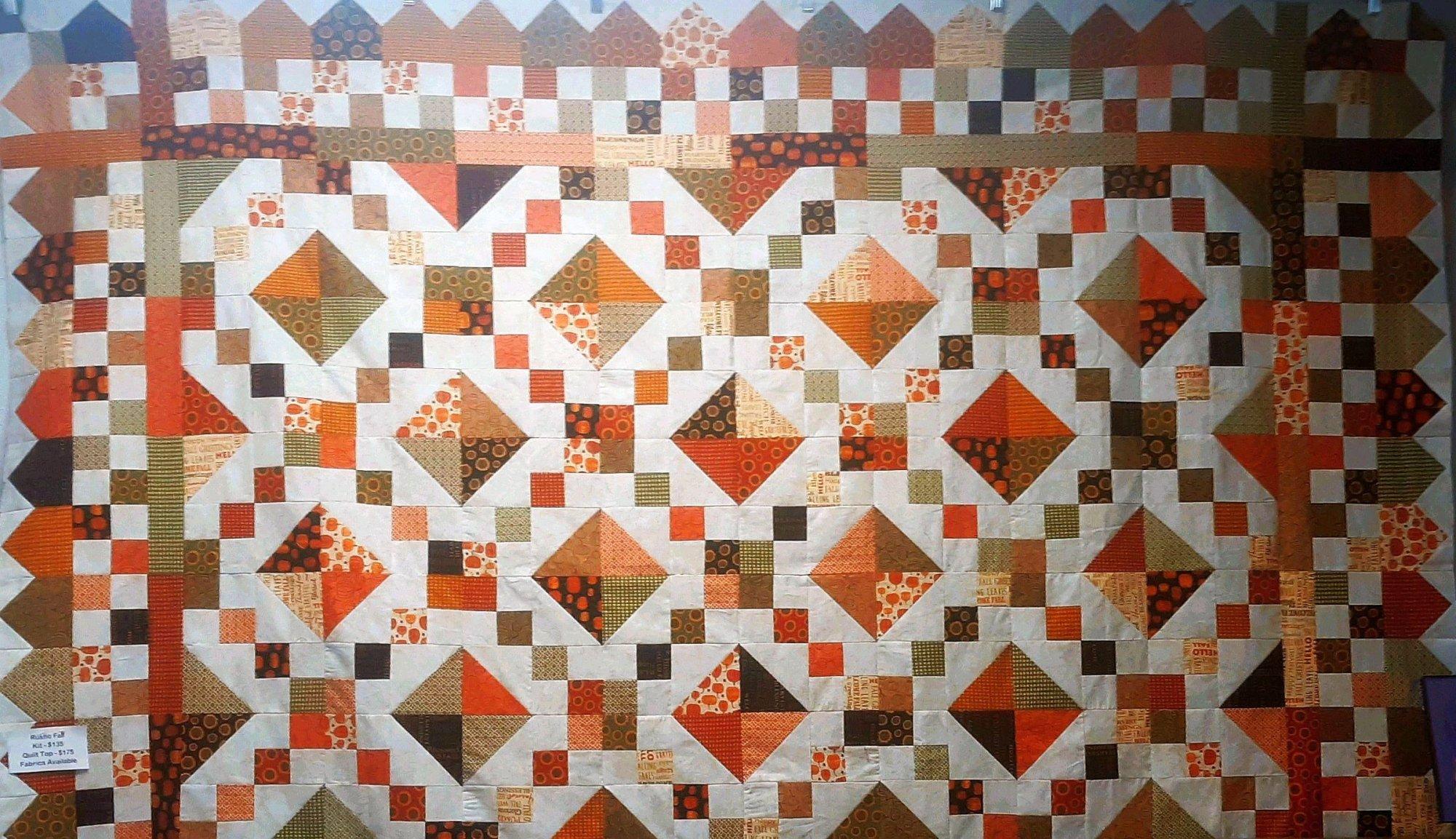 Rustic Fall Quilt 68 x 84