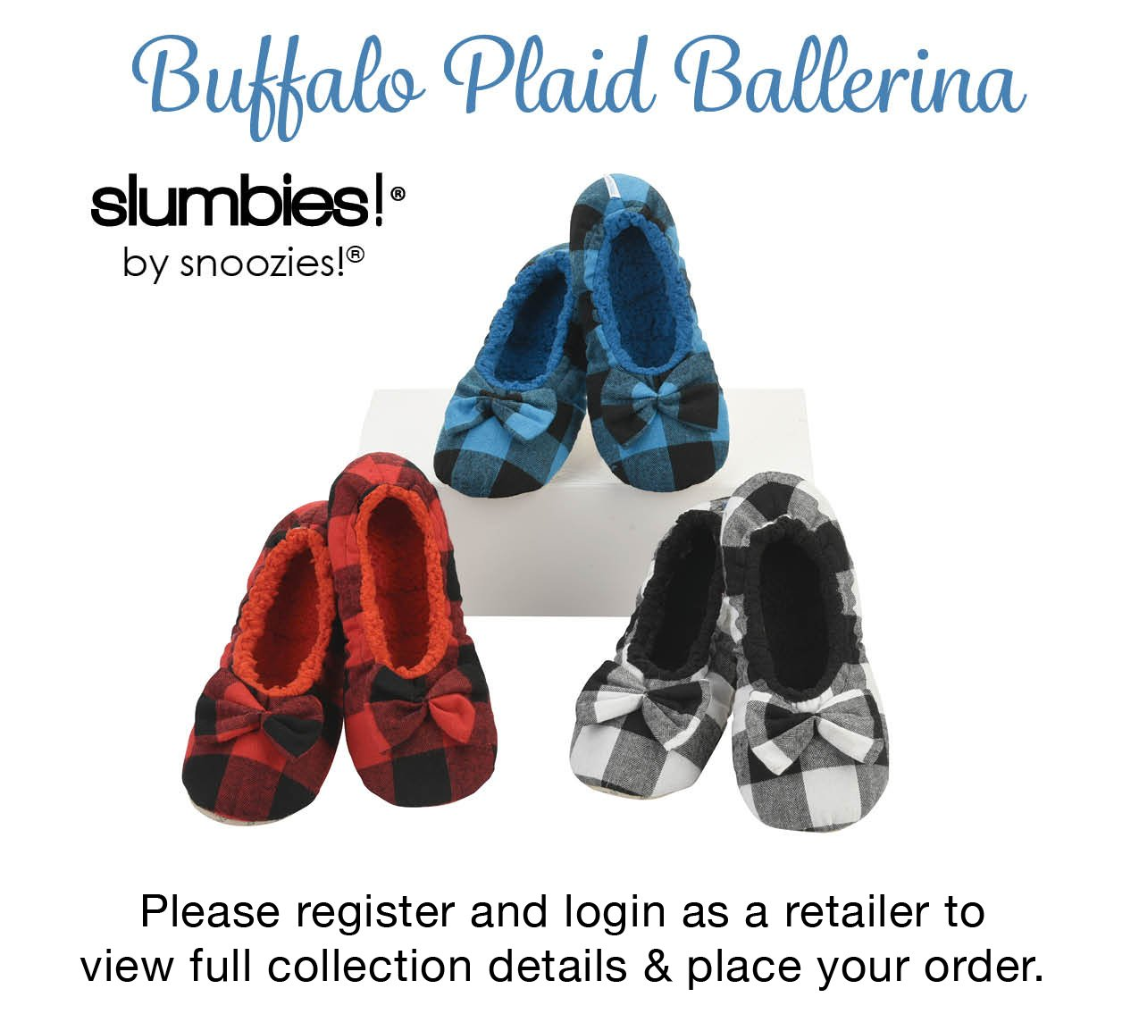Slumbies by Snoozies - Buffalo Plaid Ballerina