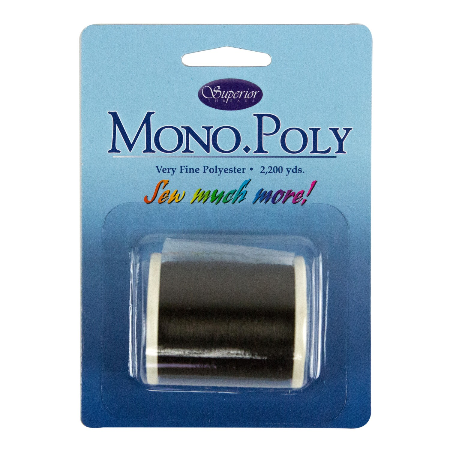 MonoPoly Invisible Polyester Thread .004mm 2200yds Smoke