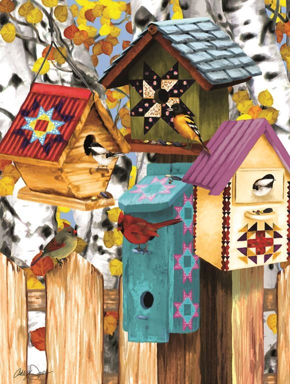 Fall Birdhouses Puzzle (1000 pcs)