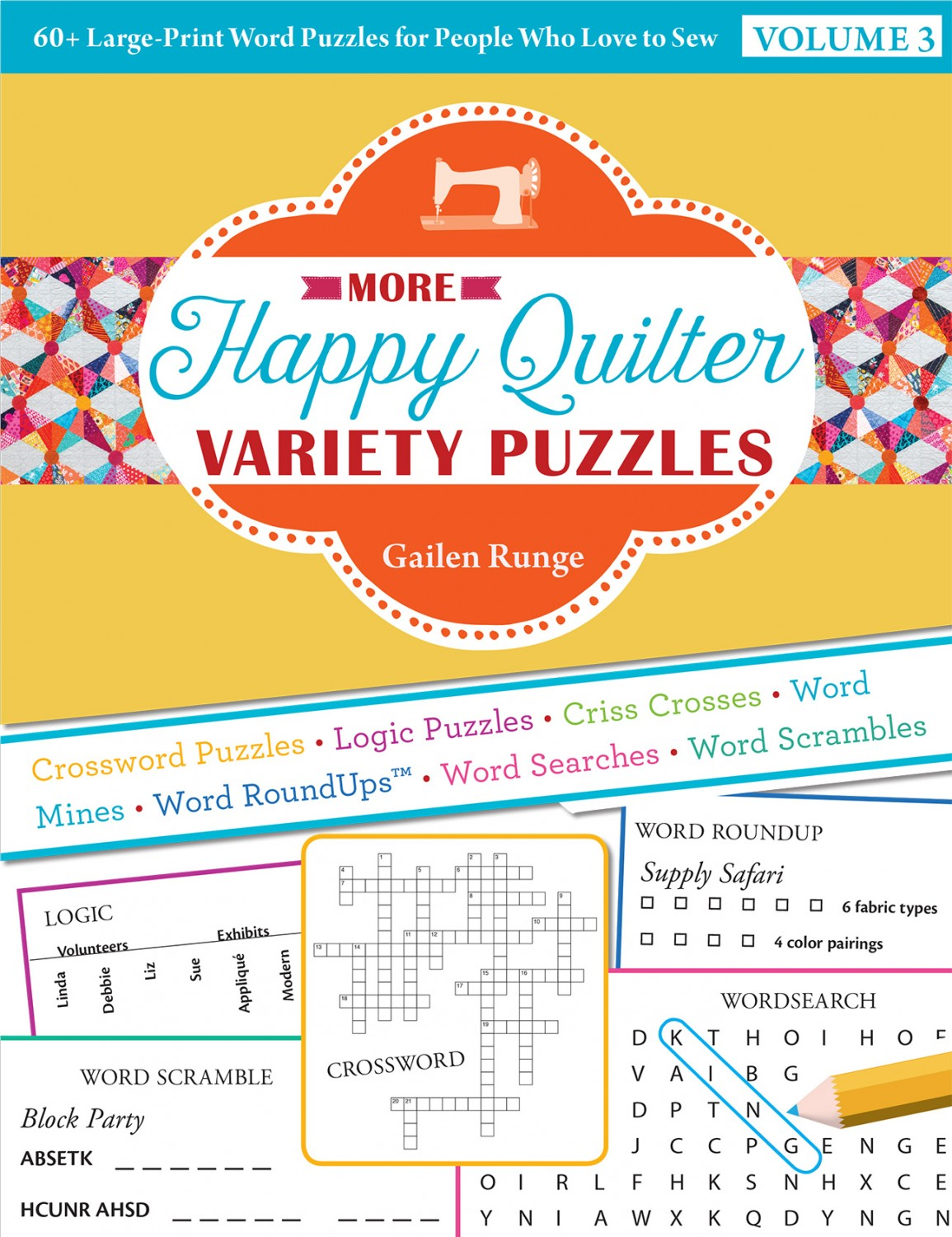 More Happy Quilter Variety Puzzles, Volume 3