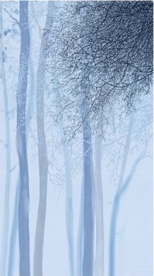 Artworks Xv OMBRE TREE PANEL BLUE