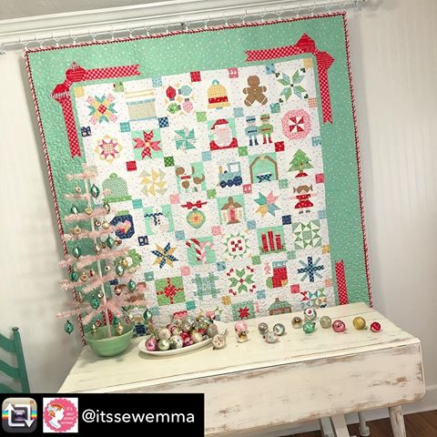 Vintage Christmas Lori Holt Sew Along with The Quilt Corner sampler quilt