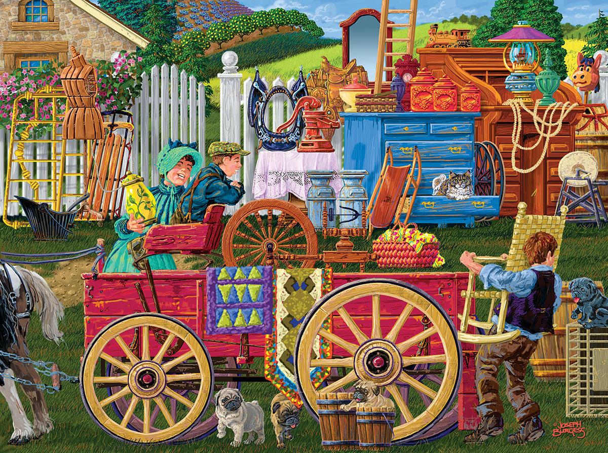 Vintage Yard Sale 1000 pc Puzzle