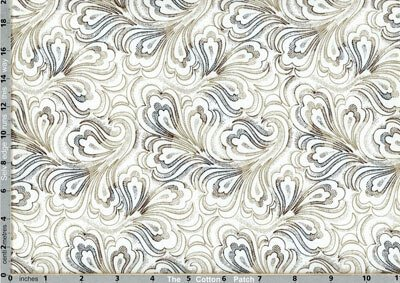 Ivory Fanned Paisley