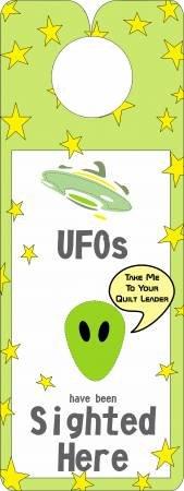 Quilty Door Hanger-UFOS Sighted Here