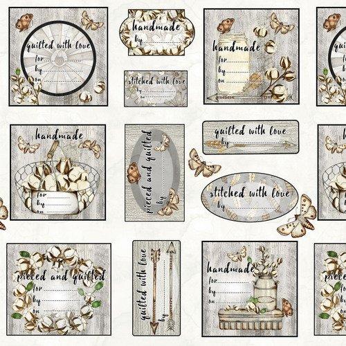 Love-4-Cotton Quilt Labels 18 x wof