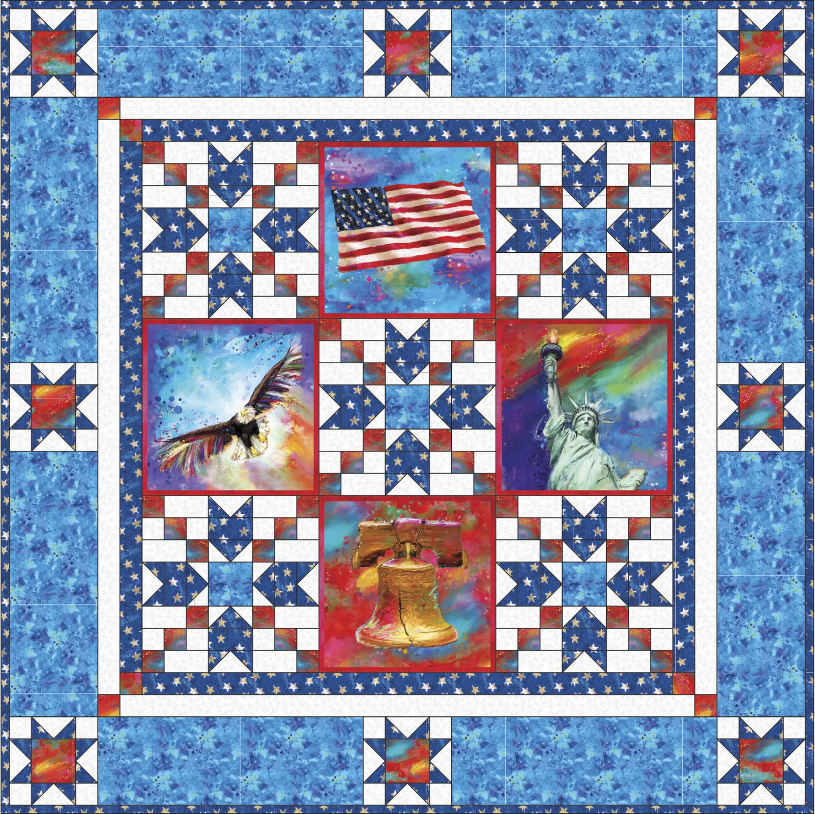 American Icons Quilt Kit