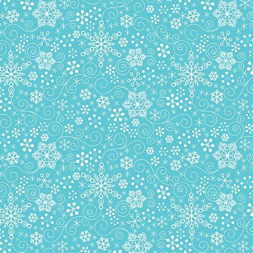 Mulberry Lane - Snowflake Turqoise