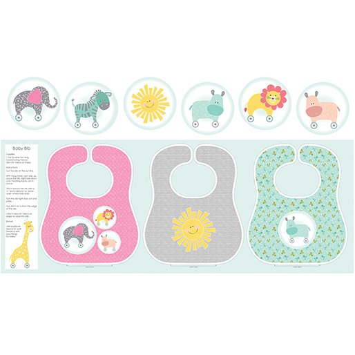 My Little Sunshine Bibs Panel Multi