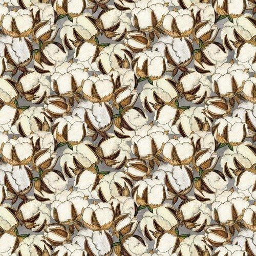 Love-4-Cotton Gray Large Cotton Bolls