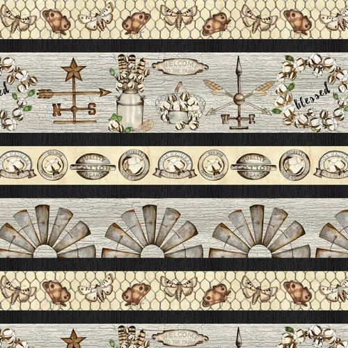 Love-4-Cotton Ivory Stripe