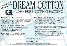 Quilters Dream Cotton SELECT NATURAL Batting - 122in x 30yd ROLL