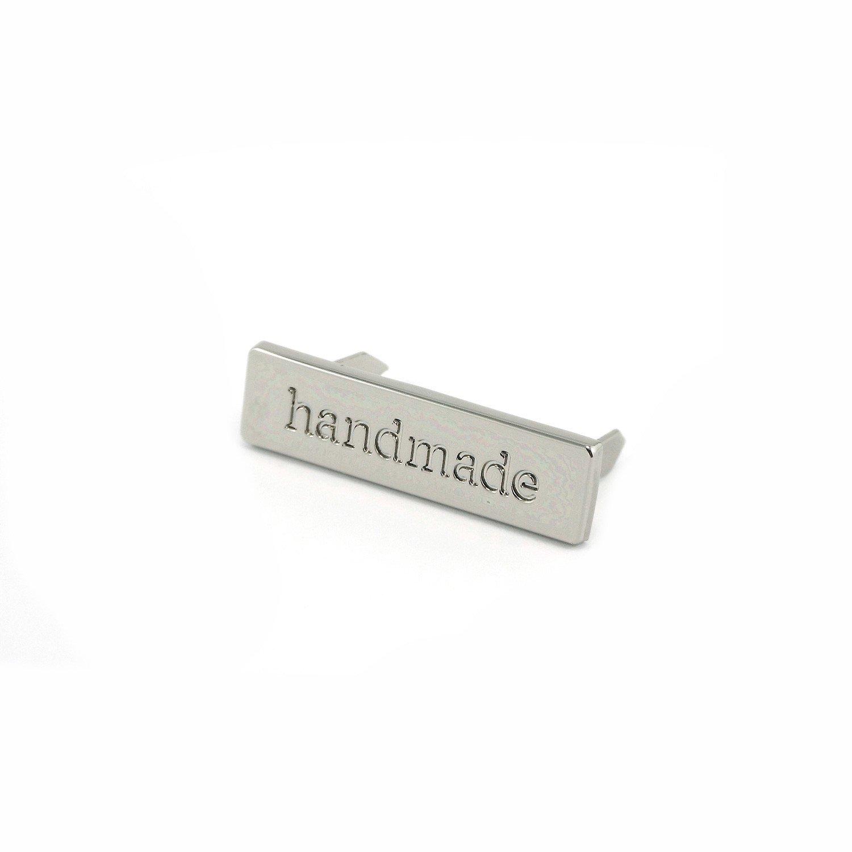 Metal Bag Label Handmade In Nickel