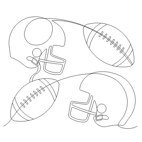 Footballs and Helmets