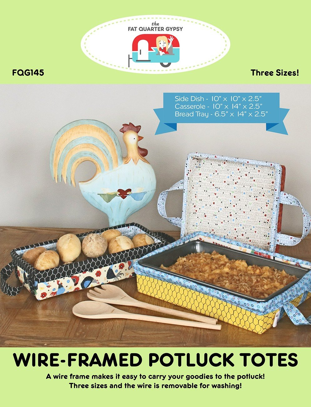 Wire-Framed Potluck Totes Pattern