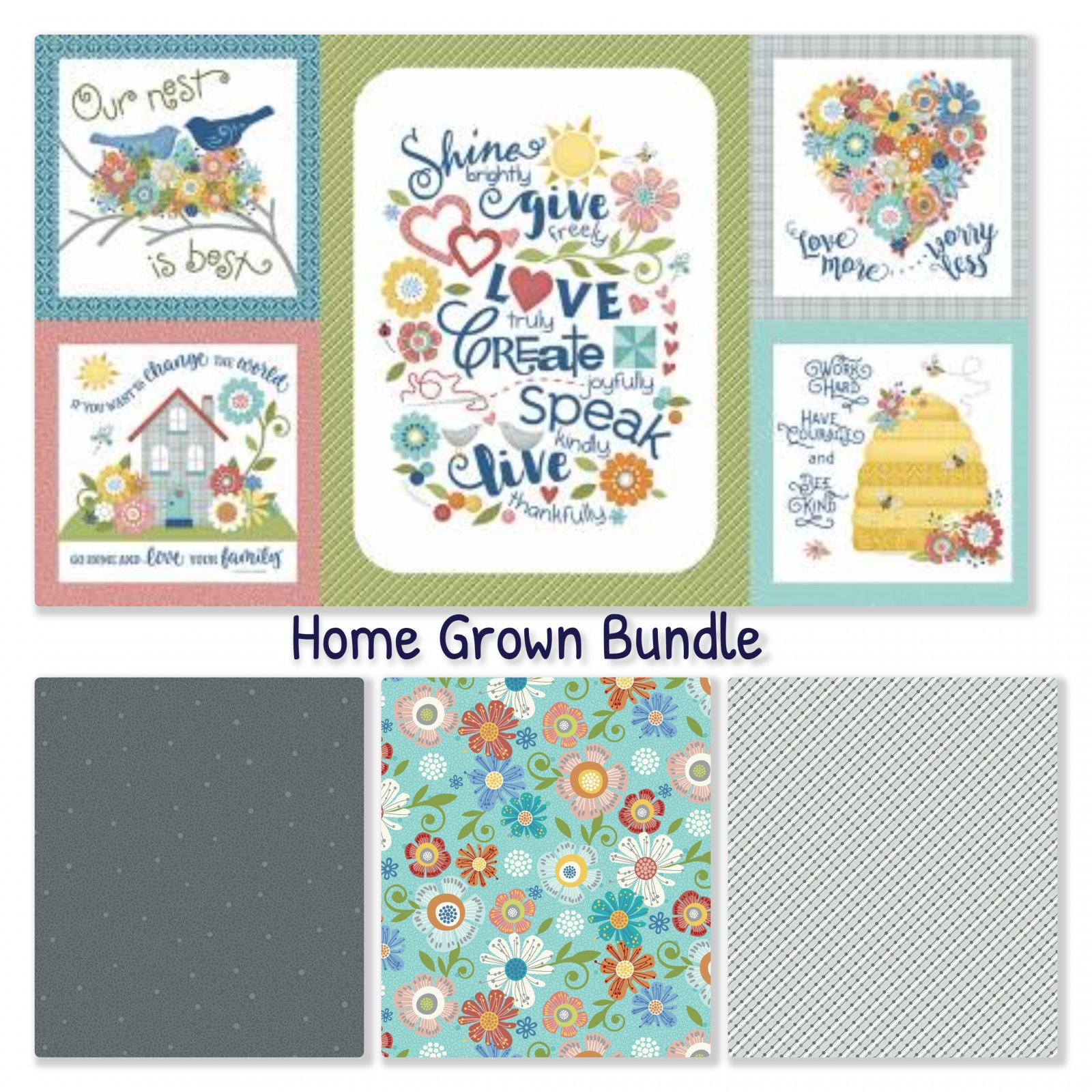 Home Grown Fabric Pack