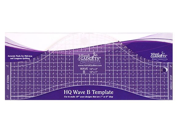 Handi Quilter Ruler Wave B 10in