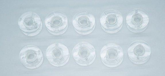 Bobbin Plastic HQSM set of 10 710 / 210