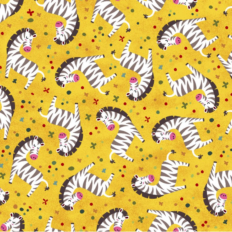 Into the Wild Zebras Yellow