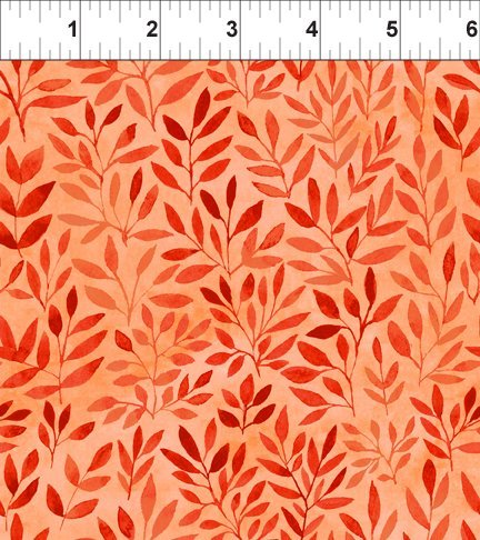 Floral Menagerie - Orange Leaves