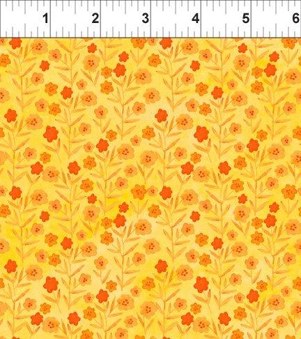 Floral Menagerie - Tiny Orange Flowers