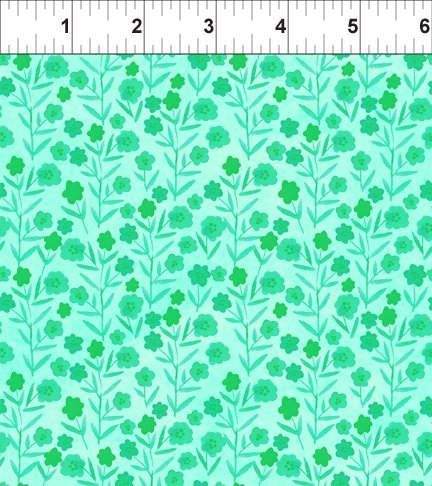 Floral Menagerie - Tiny Green Flowers