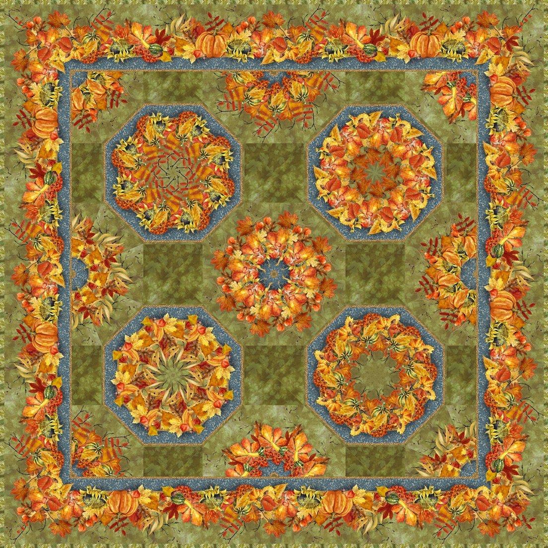 Autumn Friends Kaleidoscope Quilt Pattern