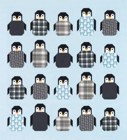 Penguin Party Quilt Kit (flannel)