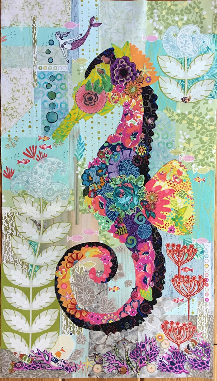 Laura Heine Collage - Mini Havana the Seahorse