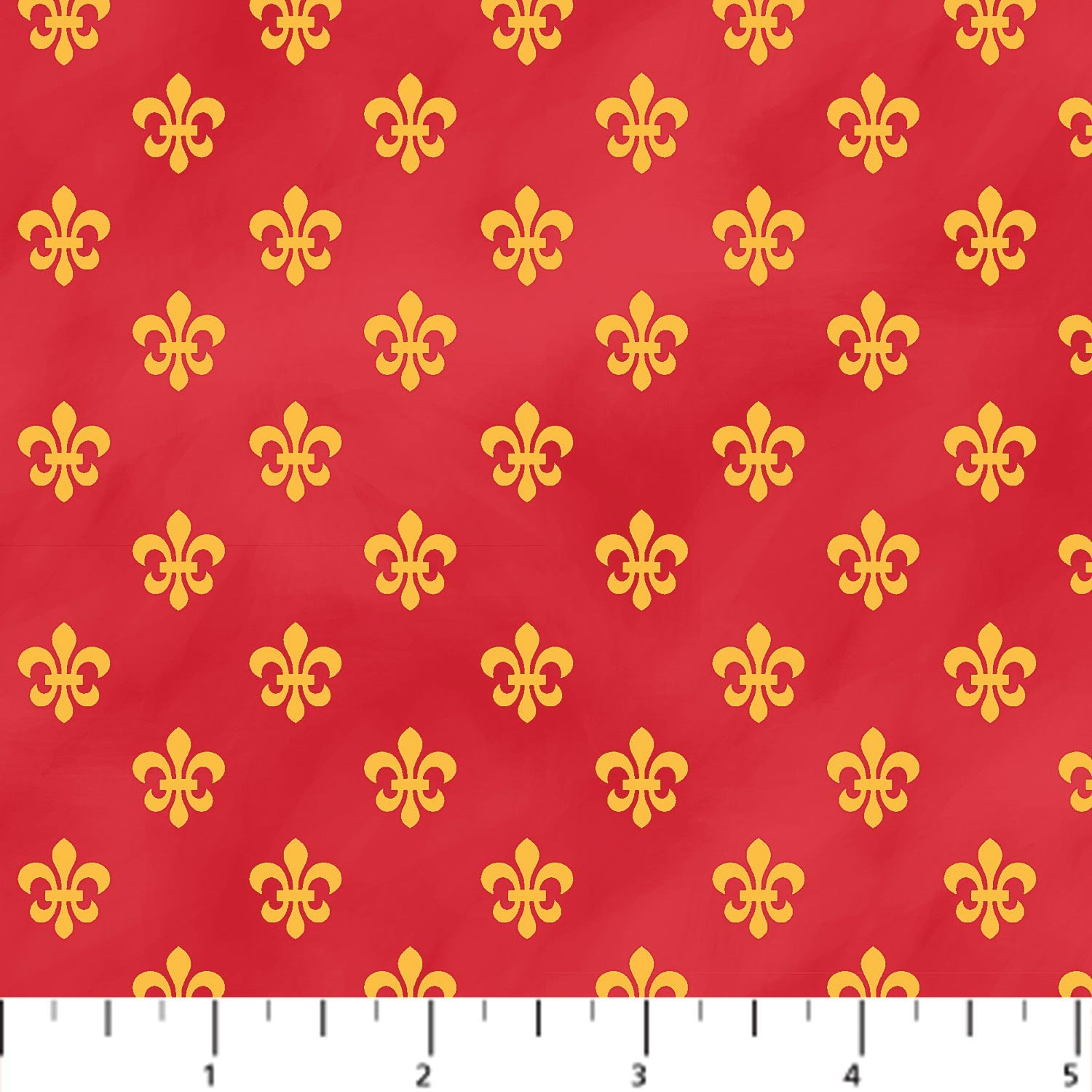 Fleur de Lis - Gold on Red
